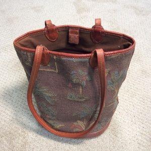 Tommy Bahama bucket purse palm tree design